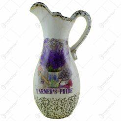 Vaza realizata din ceramica - Design cu lavanda - Carafa (Model 2)
