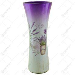 Vaza realizata din ceramica - Design cu lavanda - Curbat (Model 4)