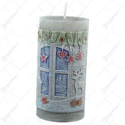 Lumanare craciun in forma cilindrica - Design Charming Christmas - 2 modele