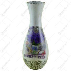 Vaza realizata din ceramica - Design cu lavanda - Curbat (Model 6)