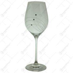 Set 6 pahare pentru vin realizate din sticla (Model 1)