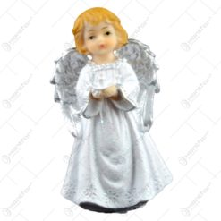 Figurina decorativa realizata din ceramica - Inger - Argintiu - Diferite modele (11 CM)