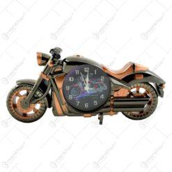 Ceas de masa realizat din material plastic - Design Motocicleta - 2 modele (Tip 2)