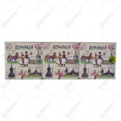Suport pentru pahar realizat din carton absorbant - Design Romania