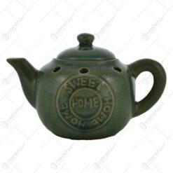 Candela realizata din ceramica in forma de ceainic- Design Home Sweet Home ( Diverse culori)