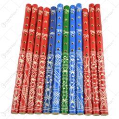 Fluier realizat din lemn - Design Traditional - Diferite culori - Mediu