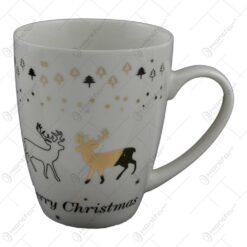 Cana de craciun realizata din ceramica - Design Merry Christmas - Diverse modele