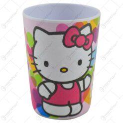 Pahar realizat din melamina - 200 ml - Design Hello Kitty