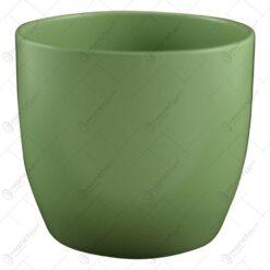 Ghiveci realizat din ceramica - Design simplu - Verde (Model 1)