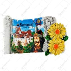 Magnet de frigider realizat din rasina - Design Castelul Bran & Vlad Tepes