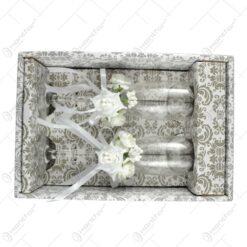 Set 2 pahare realizate din sticla pentru miri (Model 6)