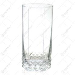 Set 6 pahare pentru bere realizate din sticla - Design Elegant (Tip 1)