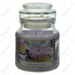 Lumanare parfumata in borcan cu capac - Lavanda Casuta - 2 modele (Model 1)