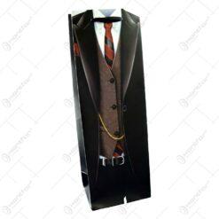 Punga cadou pentru bauturi inprimat cu tinuta de barbat elegant - Design costum elegant (Model 1)
