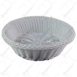 Cos oval pentru paine realizat din plastic - Alb (Model 4)