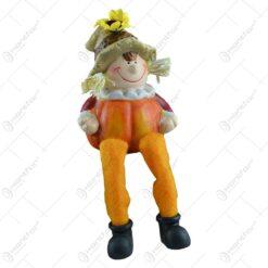 Figurina decorativa realizata din ceramica si picioare din textil - Design cu dovleac - 2 modele