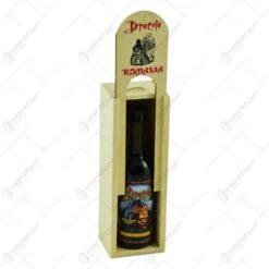Cutie din lemn cu sticla de vin. tip stativ - Dracula - Romania - Mica