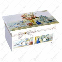 Cutie compartimentata pentru bijuterii - Trandafir - Diverse modele