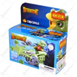 Jucarie constructiva realizata din material plastic - Crocodile / Shark - 2 modele