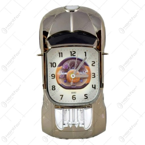 Ceas de perete realizat din material plastic - Design Masina (Tip 1)
