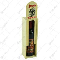 Cutie din lemn cu sticla de vin. tip stativ - Dracula - Romania - Mijlocie