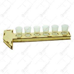 Set 6 buc. de pahare pentru bauturi cu suport cu forma de ciocan