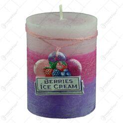 Lumanare parfumata in forma cilindrica - Design Berries Ice Cream