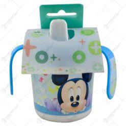 Cana pentru bebelusi realizata din plastic - Design Mickey Mouse