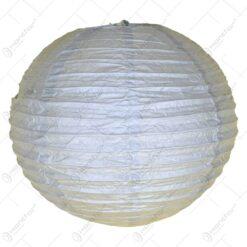 Lampion realizat din hartie in forma de glob - Argintiu (30cm)
