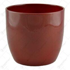 Ghiveci realizat din ceramica - Design simplu - Rosu (Model 1)