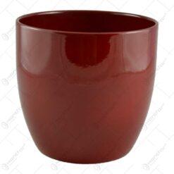 Ghiveci realizat din ceramica - Design simplu - Rosu (Model 2)