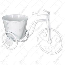 Suport pentru flori realizat din metal in forma de bicicleta. cap. 1 ghiveci (Model 5)
