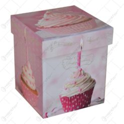 Lumanare parfumata cu forma cilindrica in recipient de sticla - In cutie decorativa Happy Birthday - Diverse modele