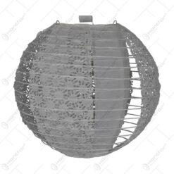 Lampion realizat din mateial textil - Design Dantelat - Alb (Tip 1)