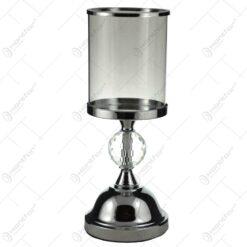 Sfesnic realizat din sticla cu picior metalic (Model 2)