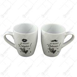 Set 2 cani Wedding realizate din ceramica - Design Dragam-Kedvesem