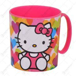 Cana realizata din material plastic - 350 ml - Design Hello Kitty