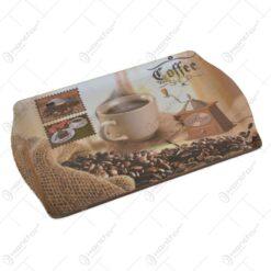 Tava realizata din material plastic - Design Coffe Shop 35x22 CM