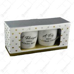 Set 2 cani Wedding realizate din ceramica - Design Ferj-Feleseg (Model 1)