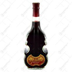 Vin rosu demisec Stradivari in sticla cu forma de vioara (0.75L)
