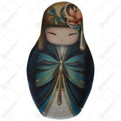 Magnet de frigider realizat din ceramica - Design Papusa Matrioska - Diferite modele (Tip 1)