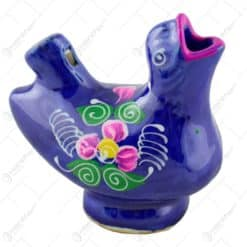Fluier cu apa realizat din ceramica - Pasare - Diferite culori