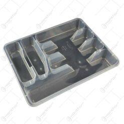 Suport pentru tacamuri realizat din plastic - Transparent