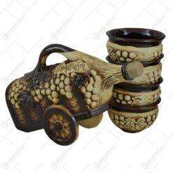 Set pentru vin realizat din ceramica - Design Cruta