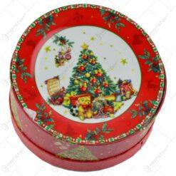 Set 6 farfurii intinse in cutie cadou - Design cu pom de Craciun