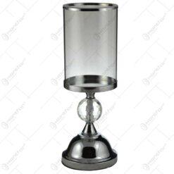 Sfesnic realizat din sticla cu picior metalic (Model 1)