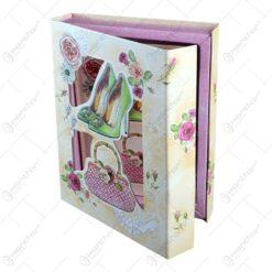 Agenda in cutie decorativa realizata din carton - Design Accesorii Dama - 2 modele