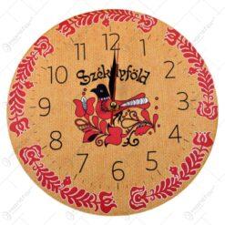 Ceas pentru perete realizat din lemn - Design Szekelyfold - 2 modele