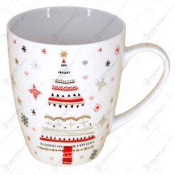 "Cana de craciun realizata din ceramica - Design Craciun si inscriptia ""Merry Christmas"" - Diverse modele"