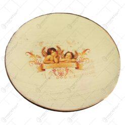 Suport pentru lumanare realizata din ceramica - Design Ingeri